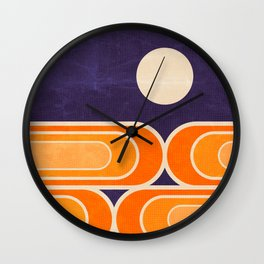 July Moonrise Wall Clock