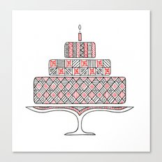 Patterned Cake Canvas Print