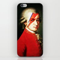 mozart iPhone & iPod Skins featuring Mozart Bowie by rodalume