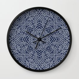 Blue Mandala Wall Clock