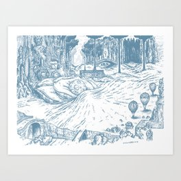 Moonsleeping (sketch) Art Print