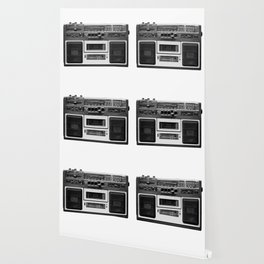 cassette recorder / audio player - 80s radio Wallpaper