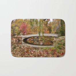 Bow Bridge in Autumn Bath Mat