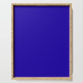 Neon Blue - solid color Serving Tray
