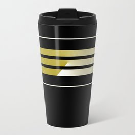 TEAM COLORS 5... black and gold Travel Mug