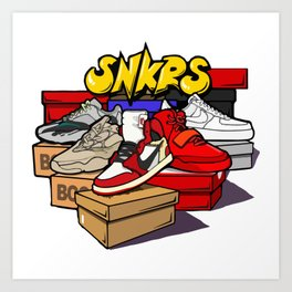 Sneakers Flea market Art Print