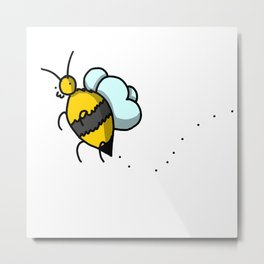 Buzzy Bee | Veronica Nagorny Metal Print