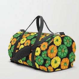 Pumpkins watercolor pattern 3 Duffle Bag