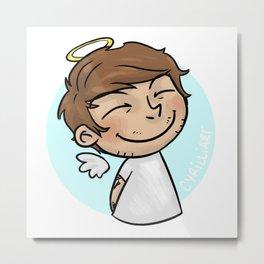 Emoji Angel: Louis Metal Print