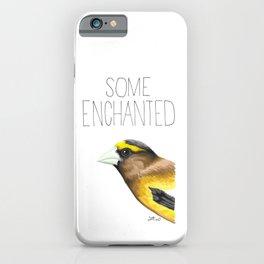 Some Enchanted Evening (Evening Grosbeak) iPhone Case