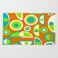 mid century modern Area & Throw Rugs featuring Mid-Century Modern Geometric Abstract by Kippygirl