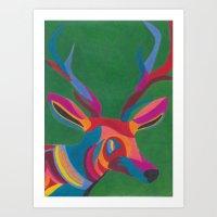Abstracted Deer Art Print