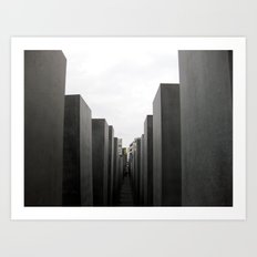 Holocaust Memorial, Berlin #1 Art Print