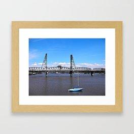 Sweet Summer Blue Framed Art Print