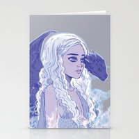 mother of dragons Stationery Cards featuring Mother of Dragons by Natalie Nardozza