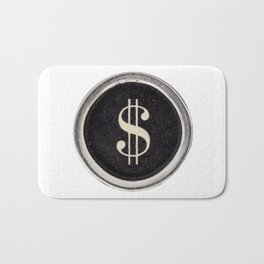 Vintage Dollar Sign Bath Mat