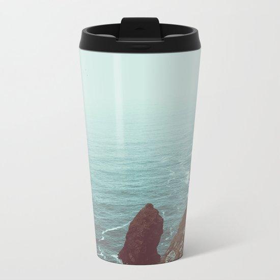 Faded Beach Metal Travel Mug