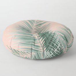 Soft Green Palm Leaves Dream - Cali Summer Vibes #1 #tropical #decor #art #society6 Floor Pillow