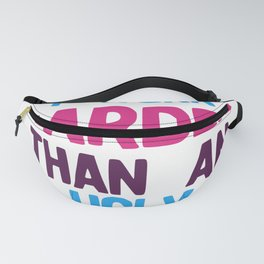 I Work Harder Than An Ugly Stripper Funny 80s Retro Style graphic Fanny Pack