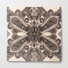 paisley shield Metal Print