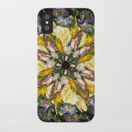 Flemish Floral Mandala 5 iPhone Case