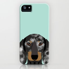 Doxie Dachshund merle dapple dog cute must have dog accessories dog gifts cute doxies dachshunds des iPhone Case