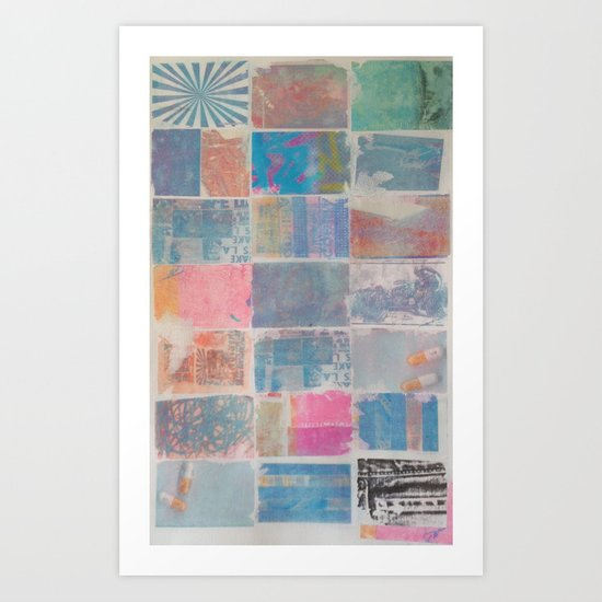 FADED COLORS Art Print