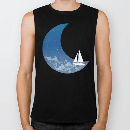 Moon Sailing Biker Tank