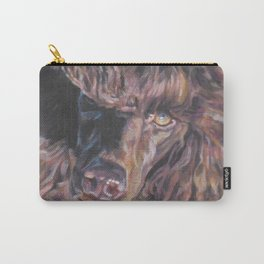 poodle dog portrait from an original painting by L.A.Shepard Carry-All Pouch