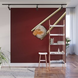 Sushi in red Wall Mural