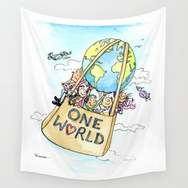 One World Together Eco Art Wall Tapestry
