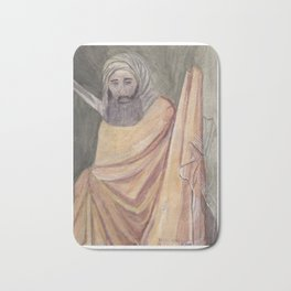 Reproduction of a Section of The Trial By Fire Fresco by Giotto Bath Mat