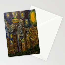 Dedication to Van Gogh: Seattle Starry Night Stationery Cards
