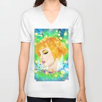 hayley williams V-neck T-shirts featuring Digital Painting - Hayley Williams by EmmaNixon92