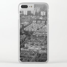 Suburbs in Madrid Clear iPhone Case
