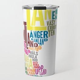 Svenska landskap (Swedish provinces) white Travel Mug