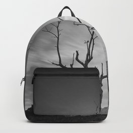 Mountains tree. Spring sunset Backpack