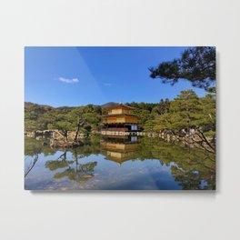 Kinkaku-ji, Golden Pavilion Temple Metal Print