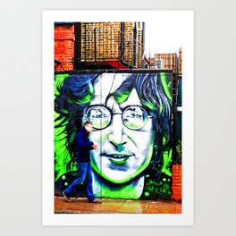 Mural Street Art Camden Town London Art Print
