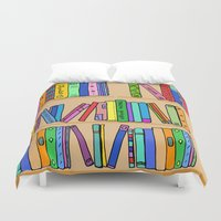 library Duvet Covers featuring The library by andy_panda_