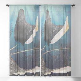 Metallic Stingray Sheer Curtain