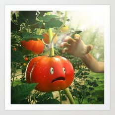 Tomato Nightmare Art Print