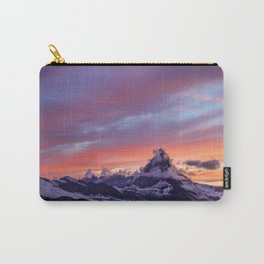 Himalayas Fishtail Mountain Sunset Carry-All Pouch