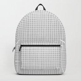 Light Grey Grid Backpack