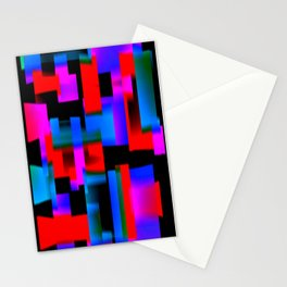 slight blur, red and blue blocks Stationery Cards