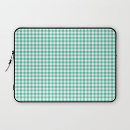 Biscay Green Gingham Check Laptop Sleeve