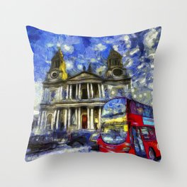 Vincent Van Gogh London Throw Pillow