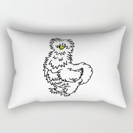 White Silkie Chicken Rectangular Pillow
