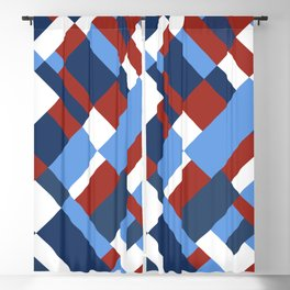Map 45 Red White and Blue Blackout Curtain