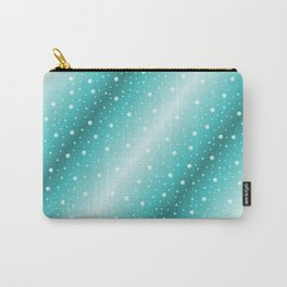 white shamrocks in mint color Carry-All Pouch
